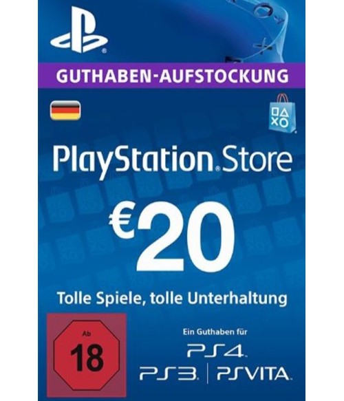PlayStation Network Gift Card 20 EUR Germany