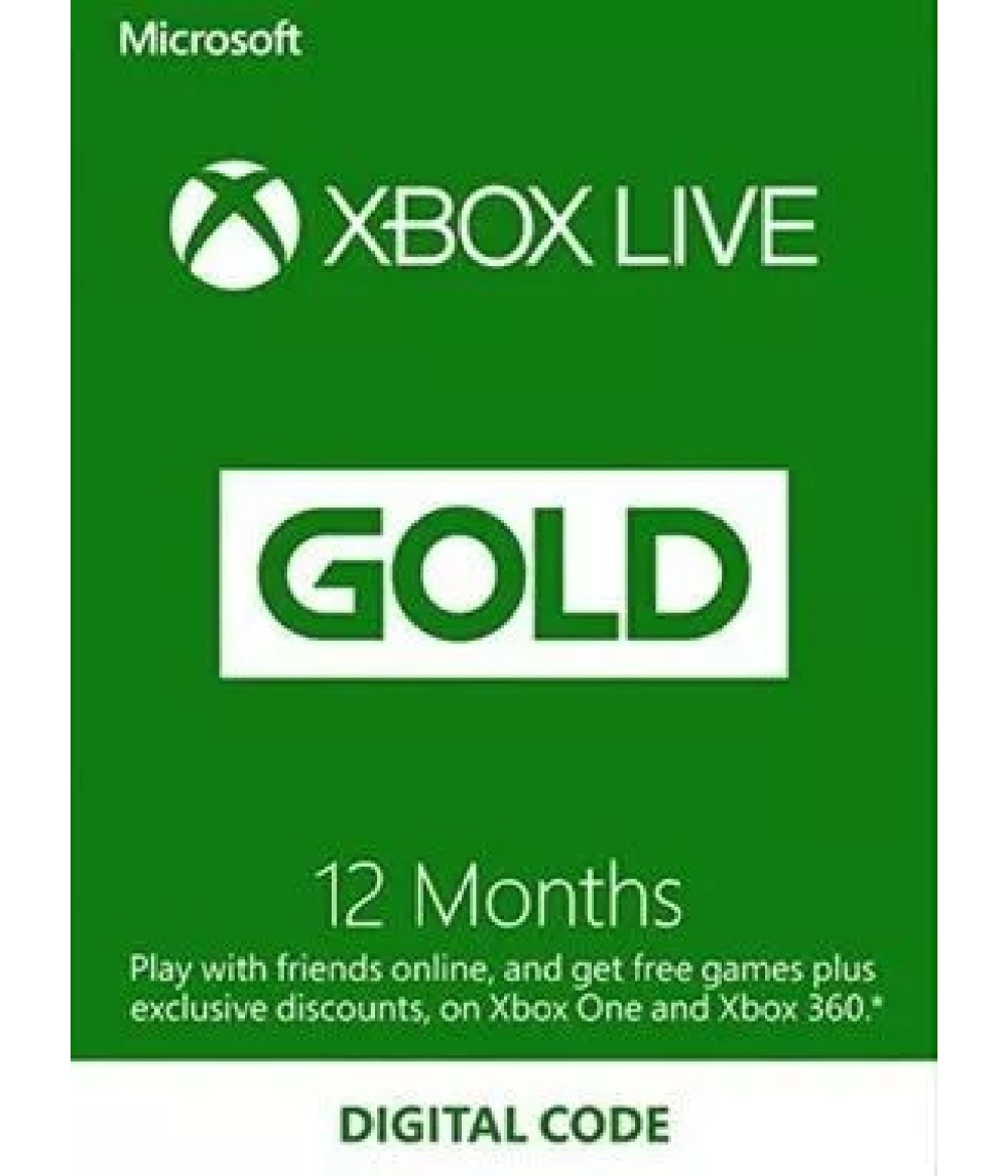 12 Month Xbox Live Gold Membership Worldwide