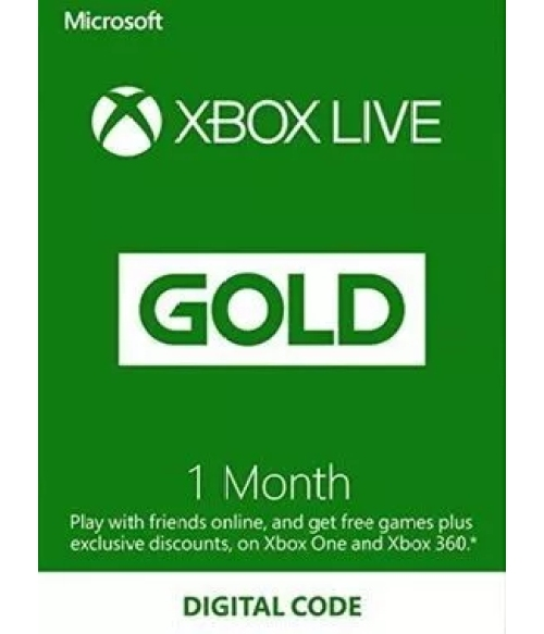 1 Month Xbox Live Gold Membership