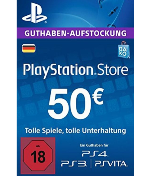 PlayStation Network Gift Card 50 EUR Germany