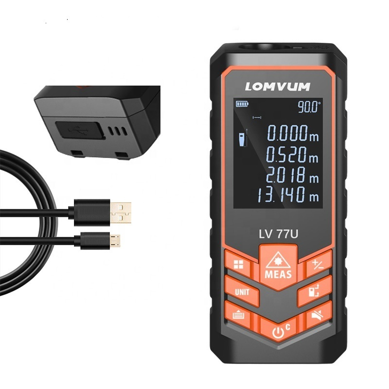 LOMVUM LV77U Voice USB Charge Laser Rangefinder Digital Measuring Distance Meters