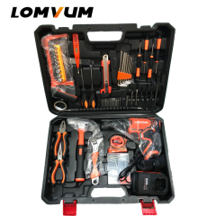 Hand Tool 27PCS QL Multi Functional Professional Electric Cordless Impact Drill Set Tool Kit