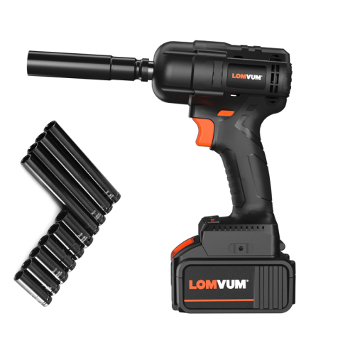 High Torque 21V Lithium Battery Power Electric Cordless Impact Wrench