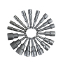 6PCS 6mm-17mm Hex Sleeve Nozzles Magnetic Nut Driver Set Drill Impact Sockets Wrench