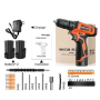 Electric Tools With Accessories Power Cordless Hand 20V Drill