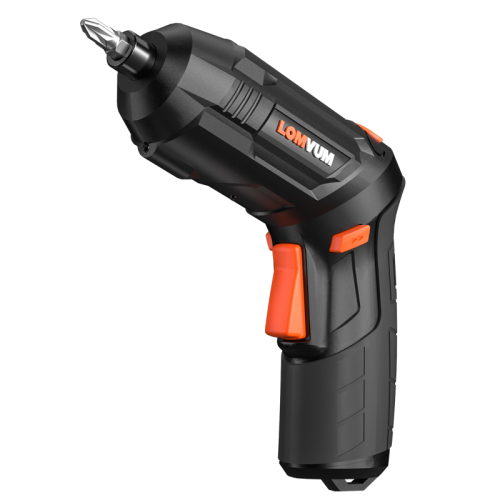 Lomvum 3.6V USB Rechargeable Battery Magnetic Electric  Mini Cordless Screwdriver Set With Drill Bits