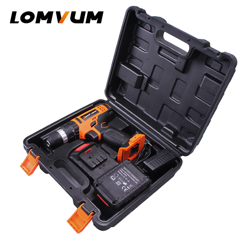 LOMVUM 20V Mini Stand Power Tool Electric BMC Cordless Impact Drill