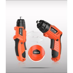Lomvum New Arrival Multi Function USB Charge Cordless Electric Battery Power Mini Screwdriver with Drill Bits Set