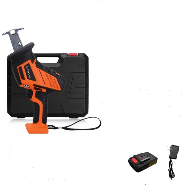 LOMVUM 21v power durable rechargeable reciprocating saw tools with metal and wood  blades