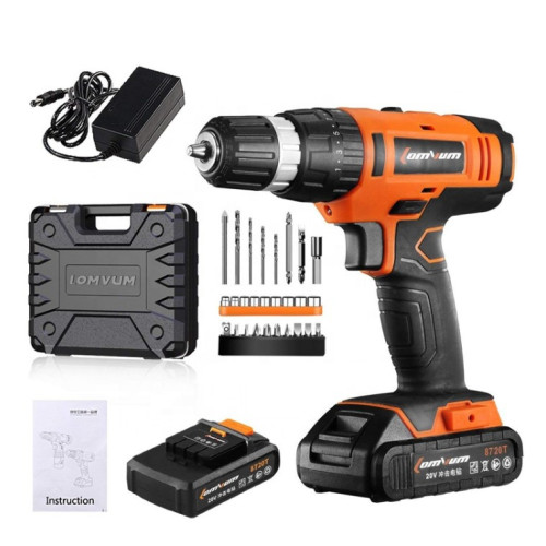 Lomvum CE Approved 18V Li-ion Battery Electric Power Cordless Impact Drill