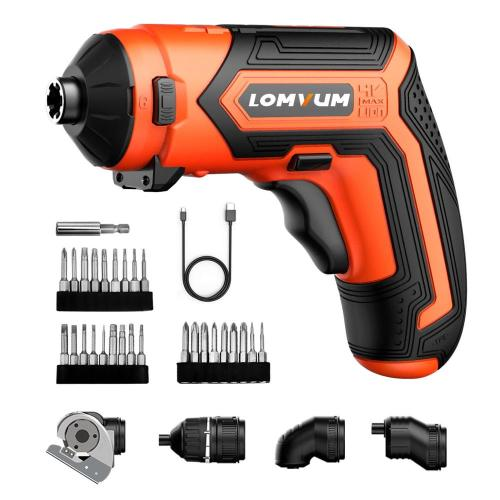 Lomvum 4V Lithium Multi function mini electric cordless screwdriver