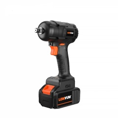 520NM Cordless Torque Electric Impact Wrench with  4Ah lithium battery Brushless