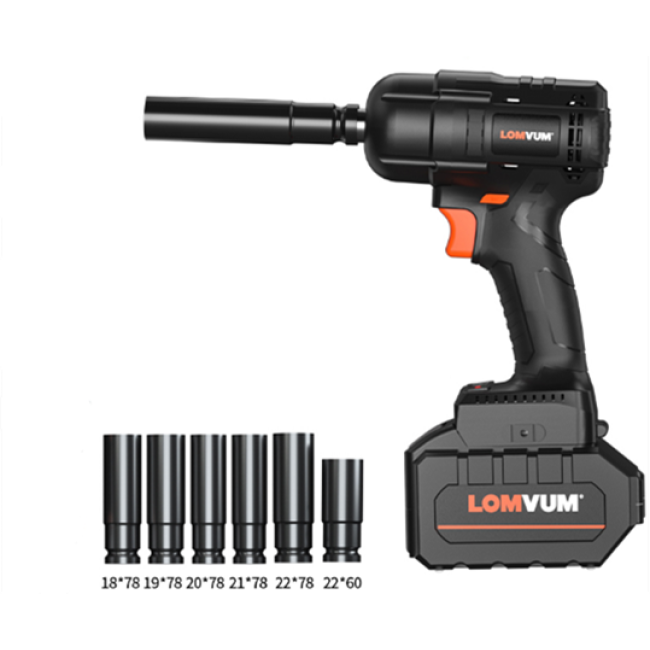 Lomvum 300NM Car Repairing Cordless Electric Brushless Impact Wrench