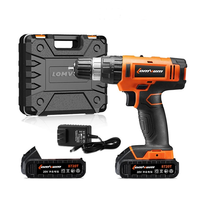 Lomvum 18V Battery Two Speeds Electric Cordless Impact Drill