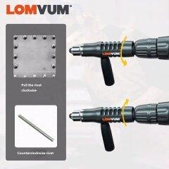 LOMVUM New Electric Rivet Multifunction Riveting Drill Adapter Gun Auto Rivet Electric Nut Gun Tool Cordless Electric Drill Tool