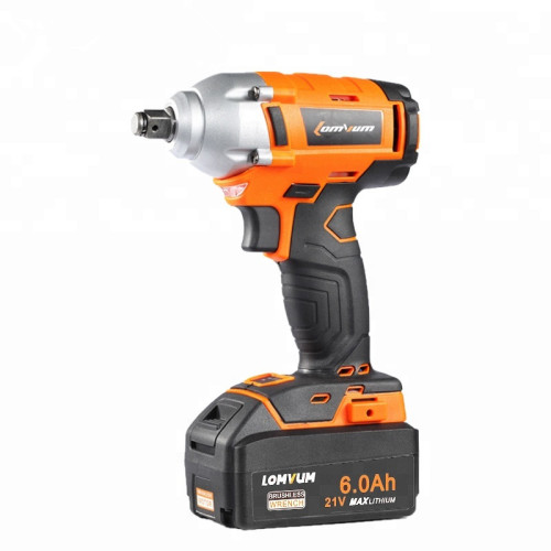 lomvum speed adjustable brushless motor 21v cordless impact wrench