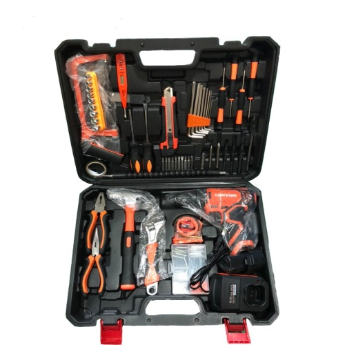 Lomvum 27pcs DIY Tool Set Electric Cordless Impact Drill Tool Kit