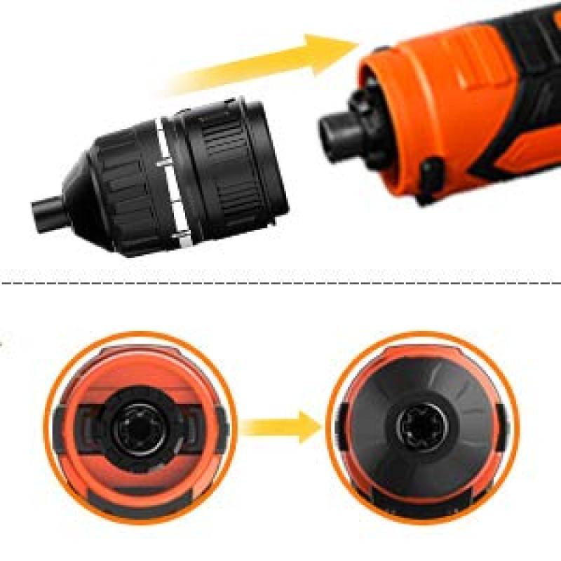 LOMVUM 4V USB Rechargeable Screw Driver 2.0Ah Li-Ion battery 4Nm Max. Torque Multi Function Mini Cordless Screwdriver Set