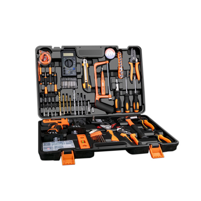Hand tools power electric cordless drill driver set