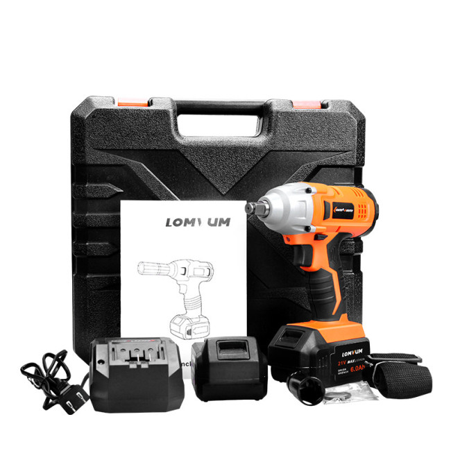 Lomvum 320 NM electric wheel wrench with brushless motor DC 12V impact wrench