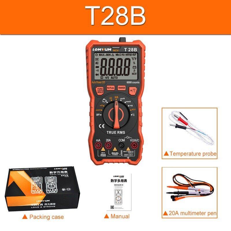 Lomvum digital 6000 counts measurement meter multi tester
