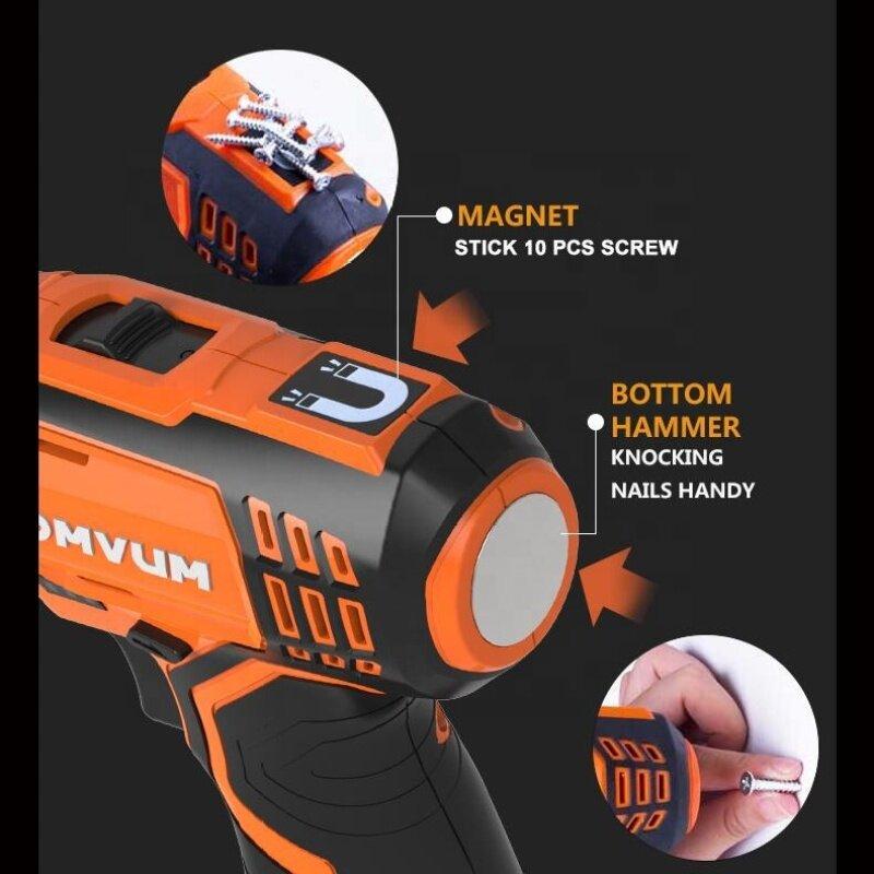 LOMVUM 2.0 Ah Lithium Battery Impact Magnetic Power Tool Portable Plastic Case BMC Electric Brushless Drill