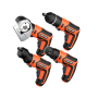 Lomvum 3.6V Mini Cordless Electric Screwdriver with 4 Changeable Heads