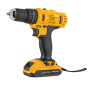 Brush Two Variable Speed Portable 18V Cordless Power Impact Driver Drill