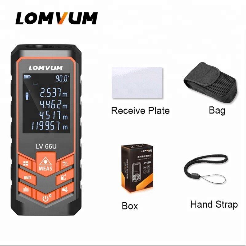 LOMVUM Hot Sales LV66U Auto Level Rangefinder Analysis Measuring Digital Laser Distance Meters