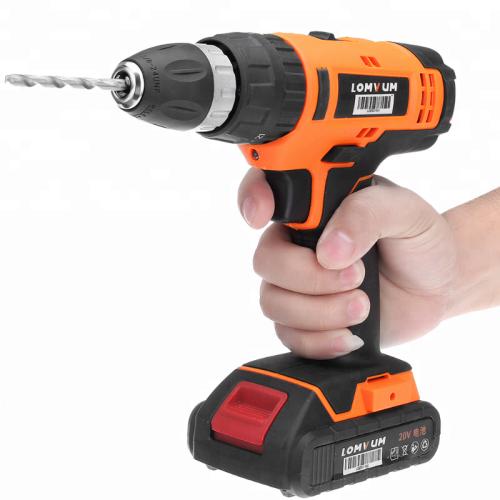 LOMVUM 12V 18V 24V Trigger Switch Power Tools Cordless Drill Machine with Drill Bit