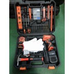 LOMVUM Hand Tool 20PCS QJ Multi Functional Bike Repair Professional Combo Electric Cordless Drill Set Tool Kit