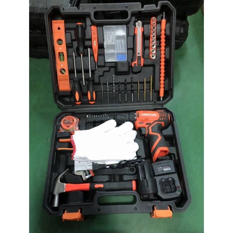 LOMVUM Hand Tool 20PCS QJ Multi Functional Bike Repair Professional Combo Electric Cordless Drill Set Tool Kit