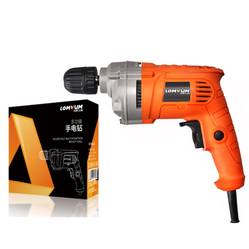 LOMVUM 450W 13mm electric hand drill portable electric hammer drill