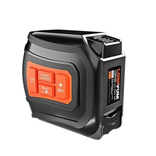 LOMVUM LTM USB Rechargeable Laser Tape measure Distance Meter 40M Laser Rangefinder 5M LCD Digital