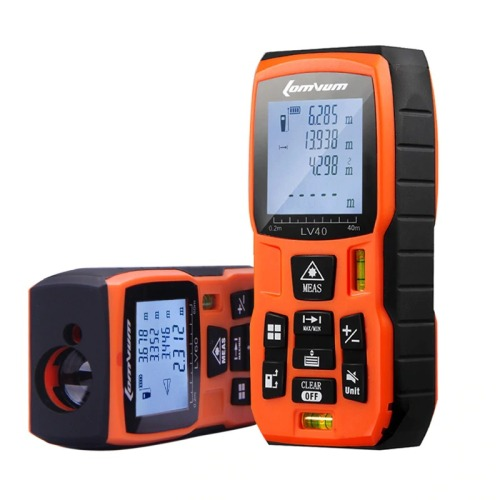 LOMVUM laser distance meter Rangefinder Mini Digital hand holder tape distance measure