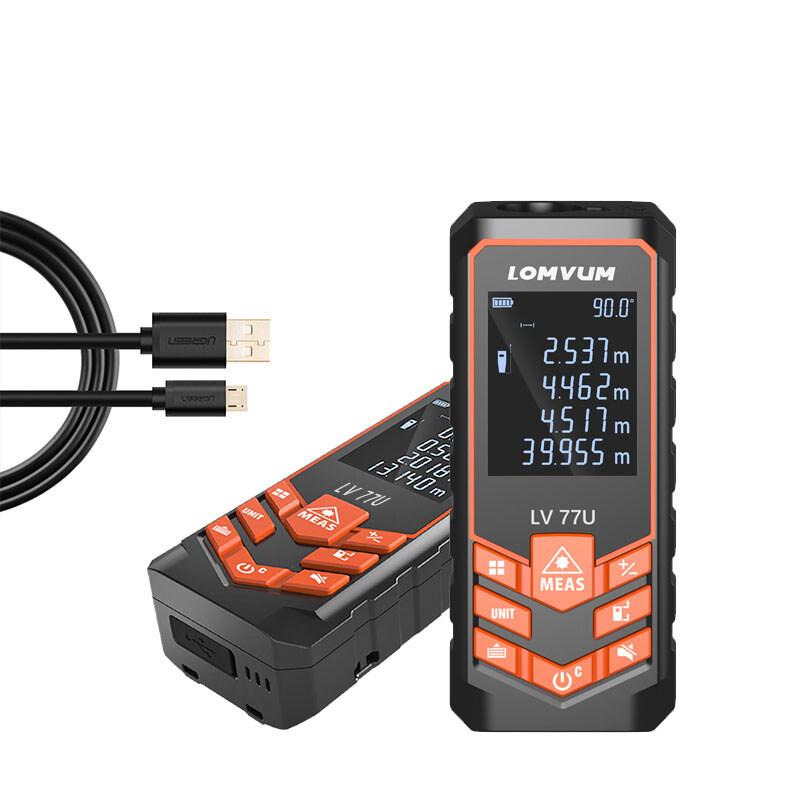 LOMVUM LV77U Handhold Mini Laser rangefinder Electrical Level Laser range finder measuring  Digital usb Laser Distance Meter