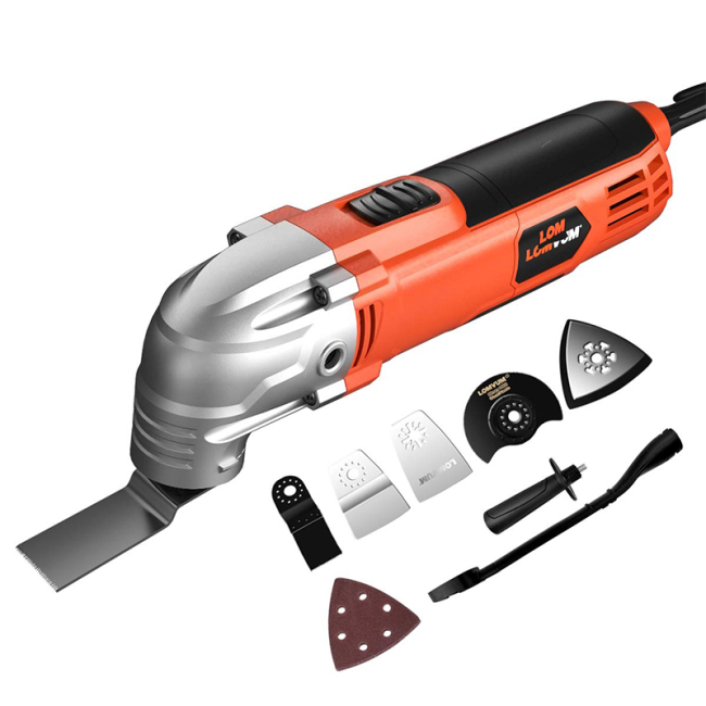 Lomvum electric tools  300W quick release other power oscillating multi tool for cutting sanding scraping polishing