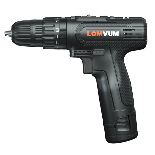 Lomvum 18V Cordless Screwdriver Lithium Ion Battery Electric Drill For Household