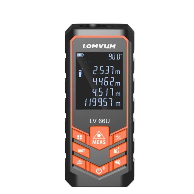 LOMVUM Laser Range Finder LV66U Auto Level Distance Meter Analysis Measure Instrument Rangefinder