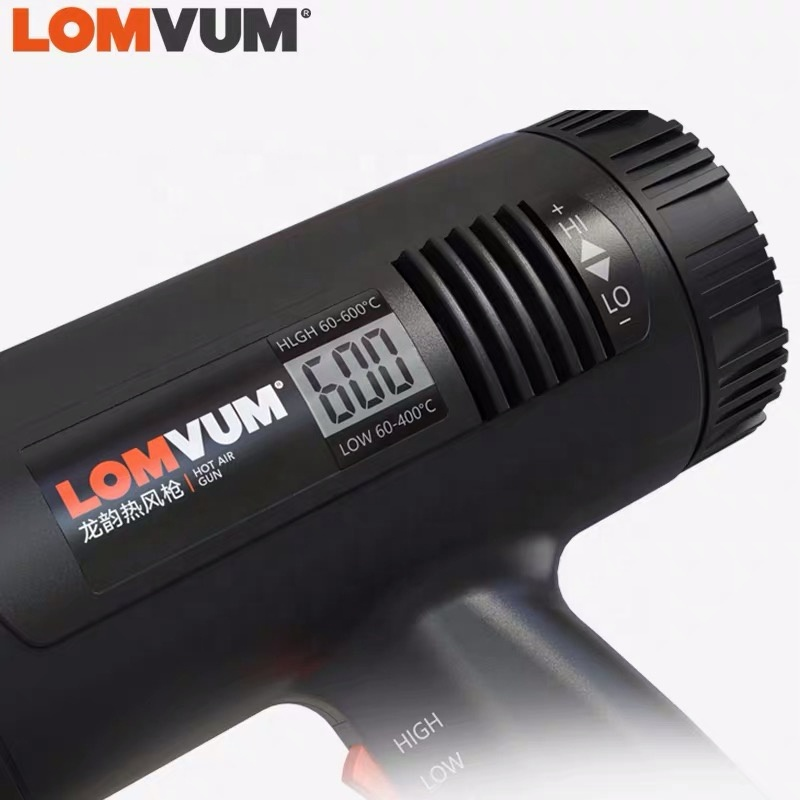 LOMVUM 2000W Professional Power Tools Digital Hot Air Seal Plastic Welding Heat Gun