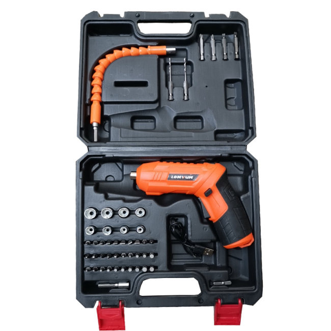 Lomvum 3.6V Cordless Driver Drill Mini Electric Screwdriver with USB Charging