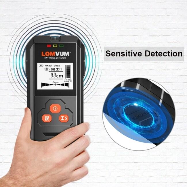 Lomvum  Wall Sensor Scanner Detector  AC Wire Metal Stud Finder