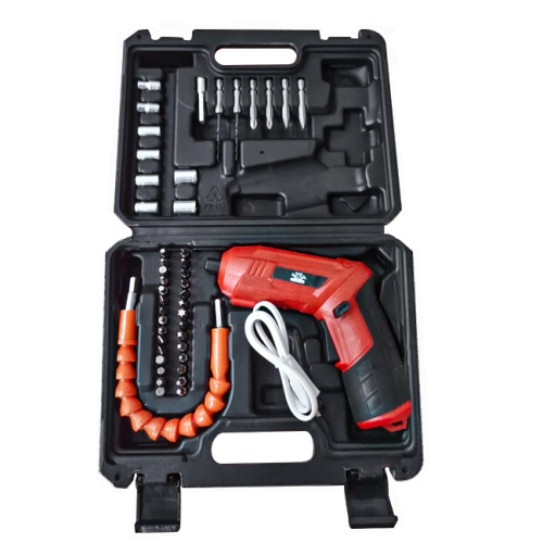 Lomvum Red USB charging Multi functional Drill electric Mini cordless screwdriver power screwdriver set