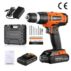 LOMVUM 20V Electric Impact Cordless Drill Hammer Drilling Machine Rechargeable Multi-functional