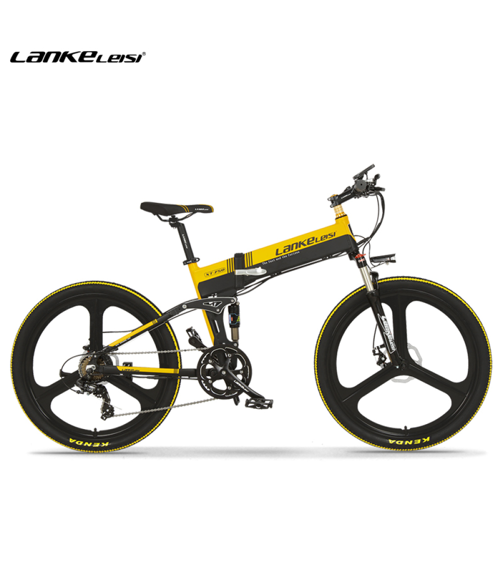 LANKELEISI XT750 400W 26 Inch Folding Power Assist Electric Bicycle 35km/h 70 - 90km Range 48V 10.4AH E-bike IP54 Waterproof STOCK Free shipping