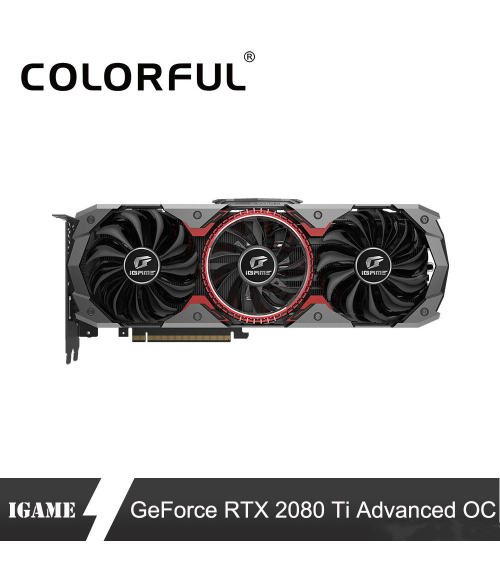 Colorful RTX 2080Ti Advanced OC Graphic Card 2080 ti 11G Nvidia Turing GPU GDDR6 1635MHz GeForce Video Cards For PC Gaming
