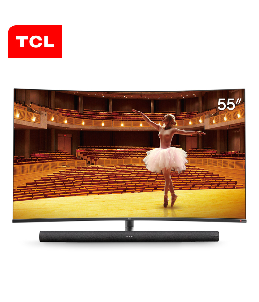 TCL 55C7 55-inch 4K ultra-high-definition smart curved LED LCD TV 136% high color gamut TV
