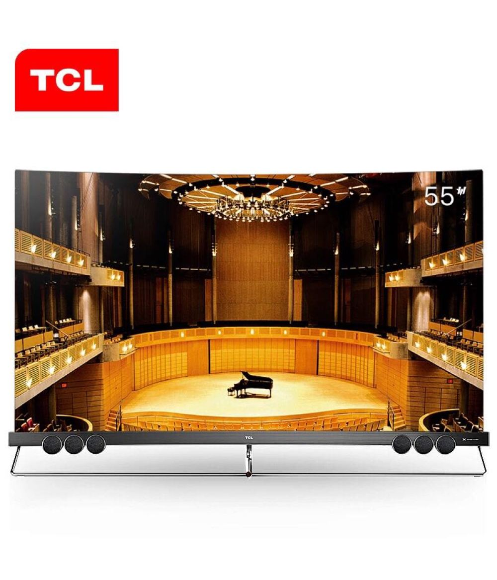 TCL 55X5 inch quantum dot full screen surface TV Android 6.0 PLUS MS838A 2G 32GB 1.7Ghz HDR intelligent ultra hd 4K