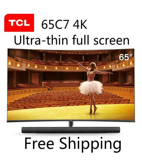 TCL 65C7 55-inch 4K ultra-high-definition smart curved LED LCD TV 136% high color gamut TV