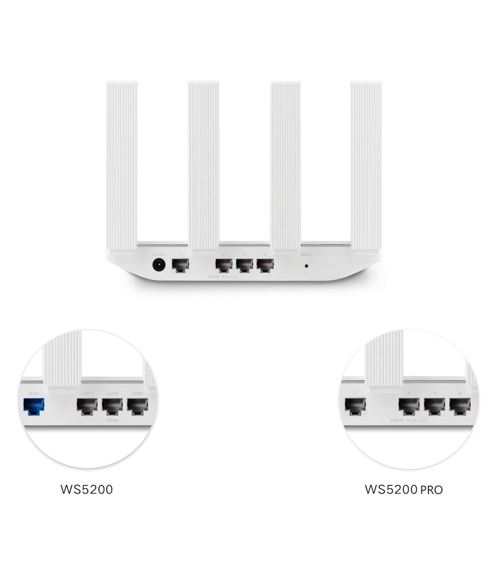 Original Huawei WiFi WS5200 Pro Wireless Router Extender WiFi Network Repetidor Access 5G Dual Frequency Intelligent Wireless Highway Home Router